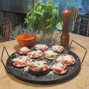 yellow chinese melons and eggplant pizzas 007