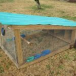 typical chicken tractor
